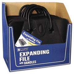 Expanding File with Handles, Letter, Polypropylene, Clear