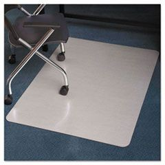 Stainless 48x36 Rectangle Chair Mat, Design Series for Carpet up to 3/4""