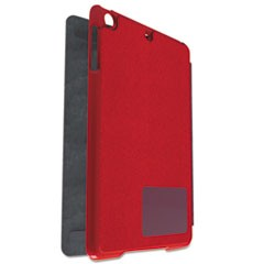 Hard Folio Case and Adjustable Stand for iPad 5, Red