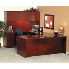 Luminary Series Wood Veneer Bridge, 48w x 24d x 29h, Cherry