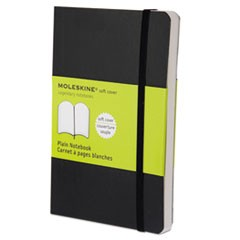 Classic Softcover Notebook, Plain, 5 1/2 x 3 1/2, Black Cover, 192 Sheets