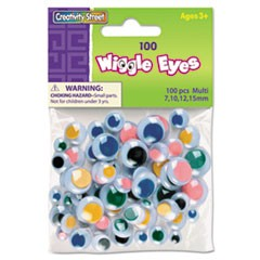 Creativity Street Wiggle Eyes, Multi-Color, Assorted Sizes, 100 Pieces