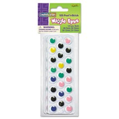 Peel 'N Stick Wiggle Eyes, Assorted Sizes, Assorted Colors, 125/Pack