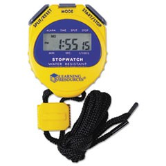 Big Digit Stopwatch, Waterproof, 1/100 Second, Alarm, Yellow
