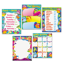 "Learning Chart Combo Packs, Classroom Basics - Owl-Stars, 17"" x 22"""