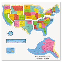 "Bulletin Board Box Sets, United States Map, 46"" x 24"""