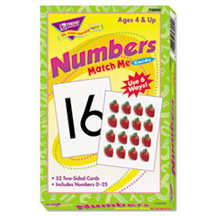Match Me Cards, Numbers 0-25, 52 Cards, Ages 4 and Up
