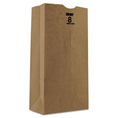 Kraft Paper Bags, Heavy-Duty, 8 lb., Brown, 500/Bundle