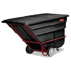 Rotomolded Tilt Truck, Rectangular, Plastic, 1900-lb Cap., Black