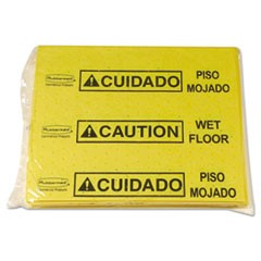 Over-The-Spill Pad Tablet w/25 Pads, Yellow/Black,14 x 16 1/2