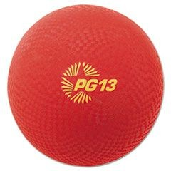 "Playground Ball, 13"" Diameter, Red"