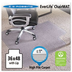 36x48 Lip Chair Mat, Performance Series AnchorBar for Carpet up to 1""