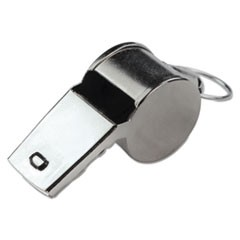 Sports Whistle, Medium Weight, Metal, Silver
