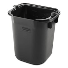 Executive Heavy Duty Pail, Black, Plastic, 5 Quarts, 9.3 w x 7.5 d x 8.5 h