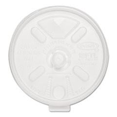 Liftn'Lock Lids, 10-14oz Cups, Translucent, 100/Sleeve, 10 Sleeves/Carton