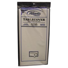 1Plastic Table Cover, Rectangular, 54 x 108, White, 12/Carton