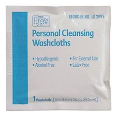 Hygea Adult Wash Cloths, 10 x 11.5, 1-Ply, White, 400/Carton