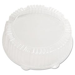 "Caterline Dome Lids, Plastic, 12"" Diameter x 2-3/4""High, Clear"