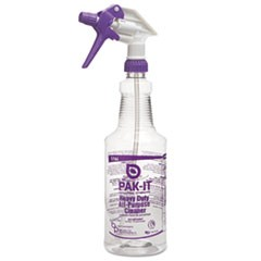Empty Color-Coded Trigger-Spray Bottle, 32 oz,for Heavy-Duty All Purpose Cleaner