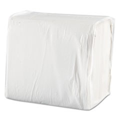 Dinner Napkins, 1-Ply, 17 x 17, White, 250/Pack, 12 Packs/Carton