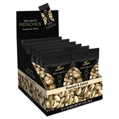 Wonderful Pistachios, Roasted & Salted, 1 oz Pack, 12/Box