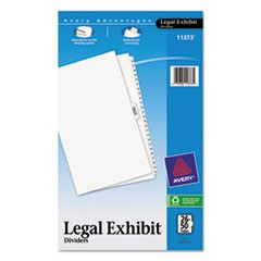 Avery-Style Legal Side Tab Divider, Title: 26-50, 14 x 8 1/2, White, 1 Set