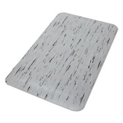 Cushion-Step Surface Mat, 24 x 36, Spiffy Vinyl, Gray