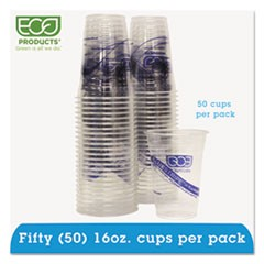 BlueStripe 25% Recycled Content Cold Cups Convenience Pack, 16 oz, 50/Pk