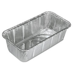 Aluminum Baking Pan, #2 Loaf, 8 x 3 7/8 x 2 19/32, 200/Carton