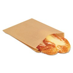 NK25 EcoCraft Grease-Resistant Sandwich Bag, 6 1/2 x 1 x 8, Natural, 2000/Carton