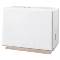 1Singlefold Towel Dispenser, Steel, 11 5/8w x 6 5/8d x 8 1/8h, White