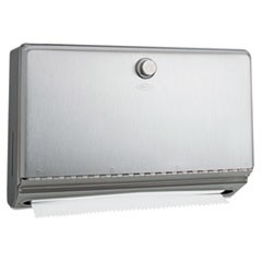 1Surface-Mounted Paper Towel Dispenser, Stainless Steel, 10 3/4 x 4 x 7 1/8
