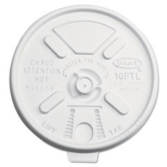 Lift n' Lock Plastic Hot Cup Lids, 12-24oz Cups, Translucent, 1000/Carton