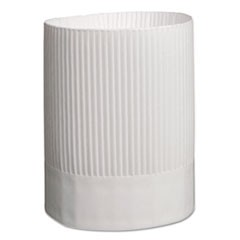 Stirling Fluted Chef's Hats, Paper, White, Adjustable, 9 in. Tall, 12/Carton