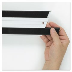 "1Hook and Loop Replacement Strips, 1.1"" x 18"", Black"