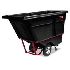 Rotomolded Tilt Truck, Rectangular, Plastic, 1400-lb Cap., Black