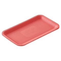 "Supermarket Trays, Foam, White, 12 1/4"" x 7 1/4"" x 1/2"""