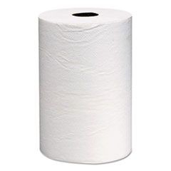 Hard Roll Towels, 8 x 800ft, White, 12 Rolls/Carton