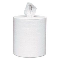 Center-Pull Towels, 8 x 15, White, 500 Sheets/Roll, 4 Rolls/Carton