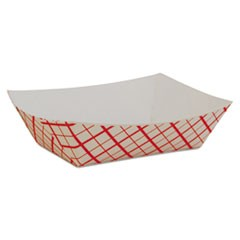 Paper Food Baskets, Red/White Checkerboard, 1/2 lb Capacity, 1000/Carton