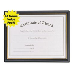 Framed Achievement/Appreciation Awards, 11w x 8 1/2h, 2 Designs, 18/Carton