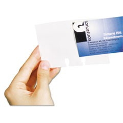 VISIFIX Double-Sided Business Card Sleeves, 40/Pack