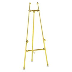 "Decorative Display Easel, 69"" High, Brass/Brass Finish"