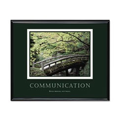 �Communication� Framed Motivational Print, 30 x 24