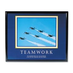 """Teamwork"" (Jets) Framed Motivational Print, 30 x 24"