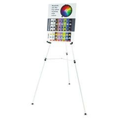 "Heavy-Duty Telescoping Tripod Easel, 38"" to 66"" High, Aluminum, Silver"