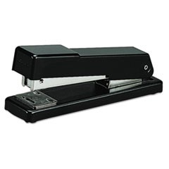 Compact Desk Stapler, Half Strip, 20-Sheet Capacity, Black