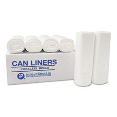High-Density Can Liner, 24 x 33, 16-Gallon, 6 Micron, Black, 50/Roll
