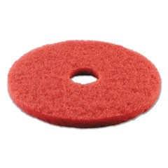 Standard 14-Inch Diameter Buffing Floor Pads, Red