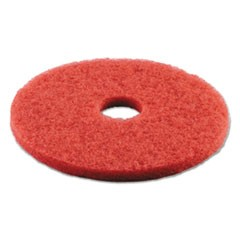 Standard 16-Inch Diameter Buffing Floor Pads, Red